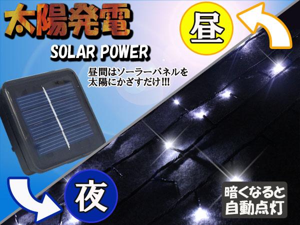 LEDソーラーライト 太陽発電のしくみ