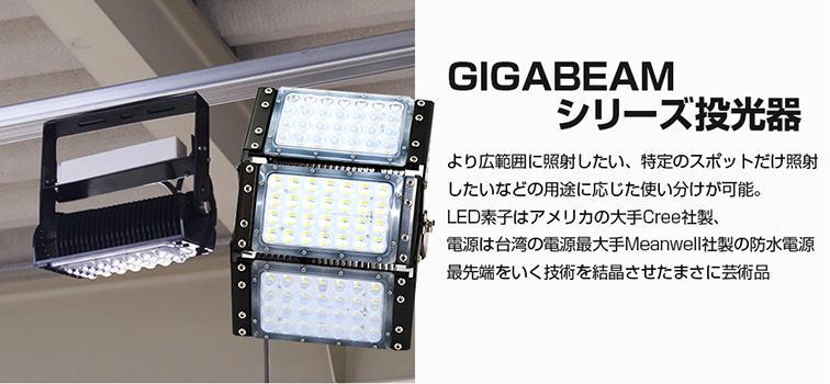 GIGABEAMシリーズ投光器 最先端をいく技術の結晶